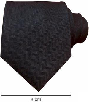 Plain Fishbone Ties - Black